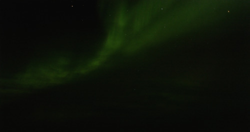 A grainy screenshot of just one of many awe inspiring auroras.