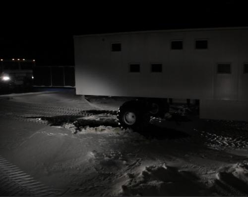 Lodge Car Stuck in Ice