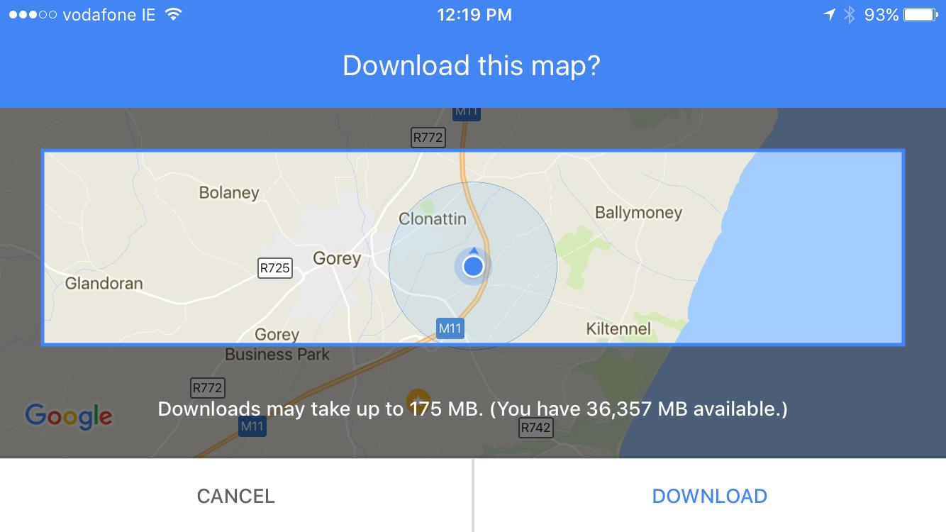 Google Maps Offline Maps